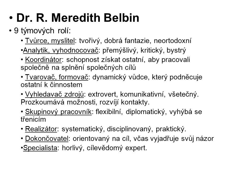 Dr. R. Meredith Belbin 9 týmových rolí: