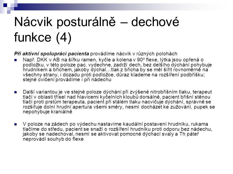 Nácvik posturálně – dechové funkce (4)