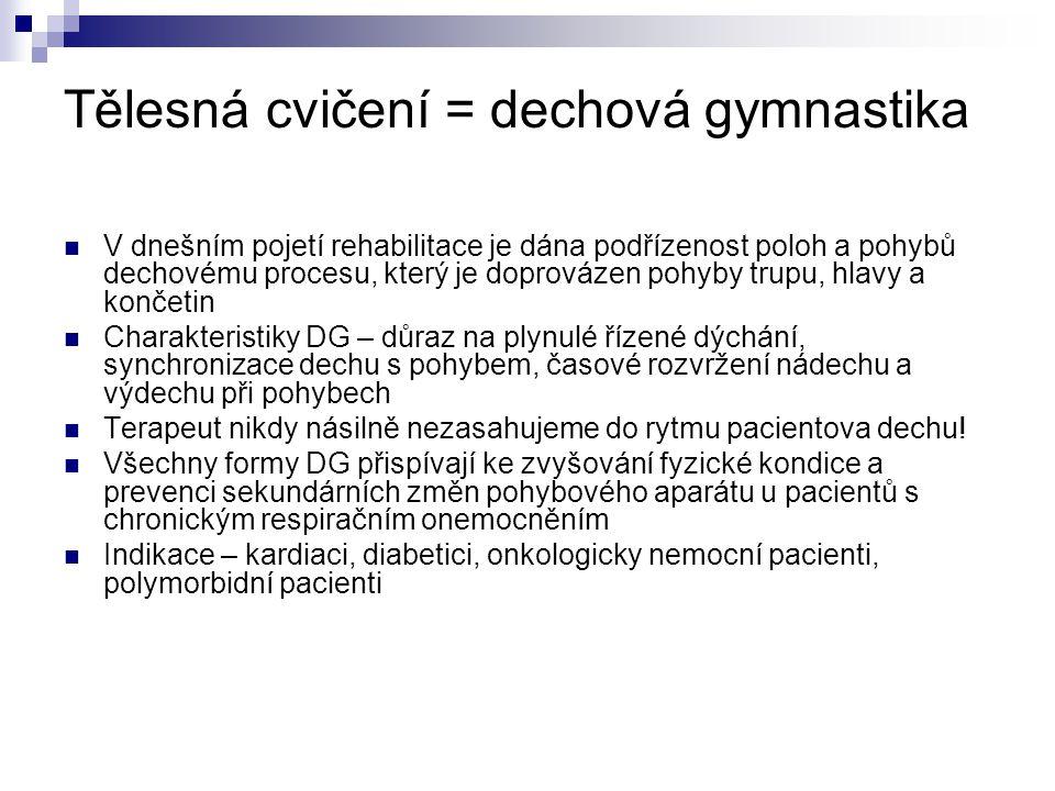 Tělesná cvičení = dechová gymnastika