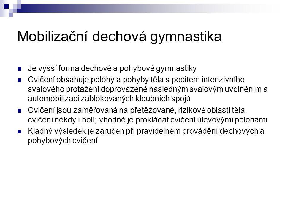 Mobilizační dechová gymnastika