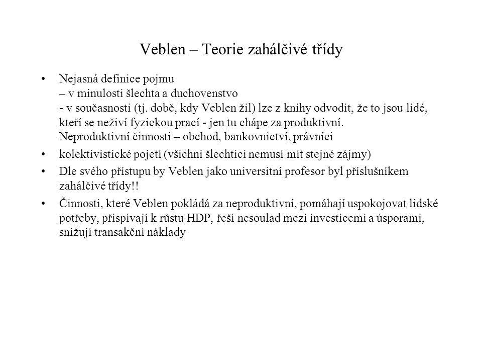 Veblen – Teorie zahálčivé třídy