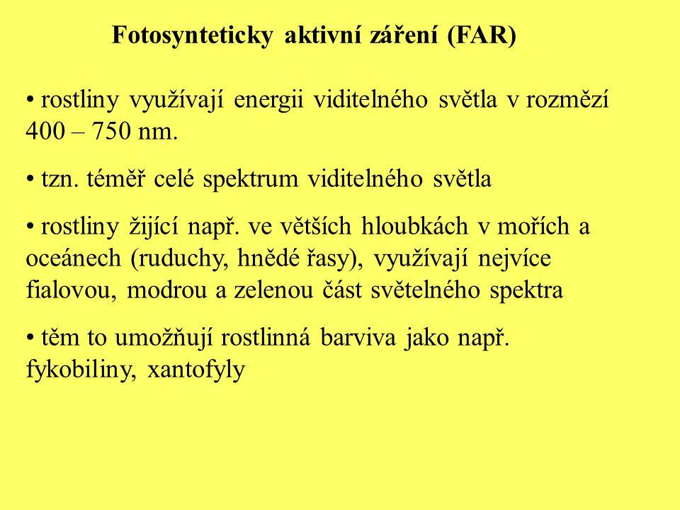Fotosynteticky aktivní záření (FAR)