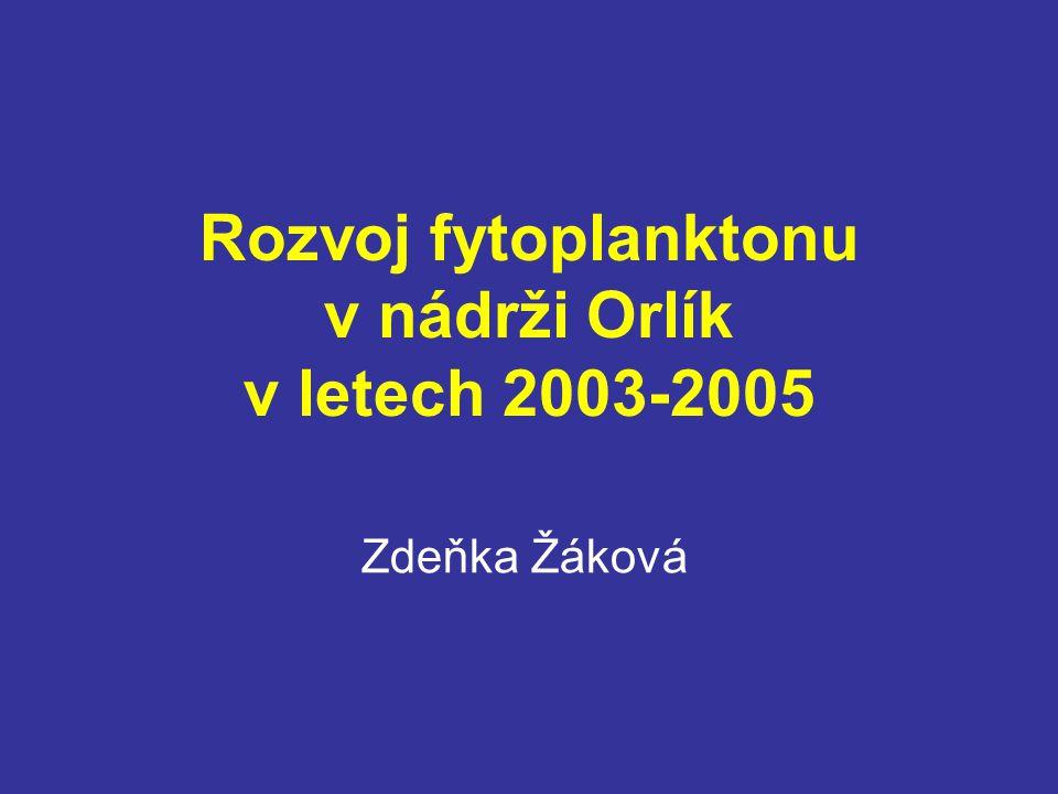 Rozvoj fytoplanktonu v nádrži Orlík v letech 2003-2005