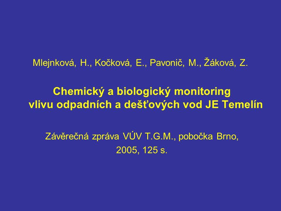 Závěrečná zpráva VÚV T.G.M., pobočka Brno,