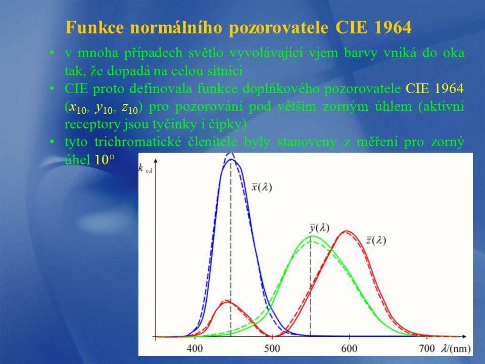 Funkce normálního pozorovatele CIE 1964