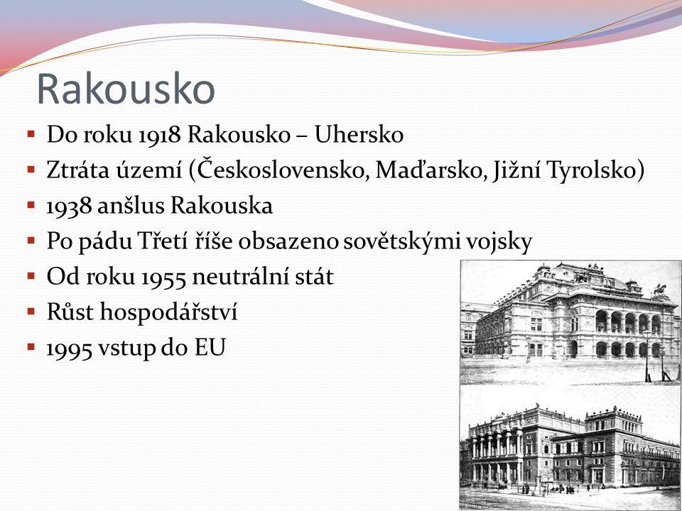Rakousko Do roku 1918 Rakousko – Uhersko