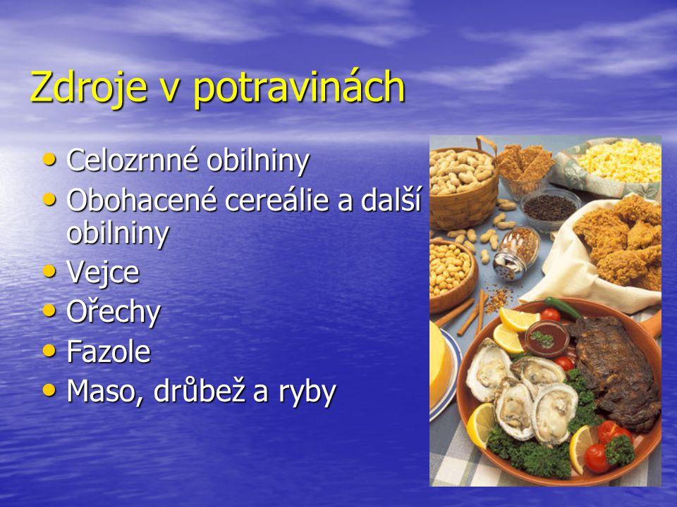 Zdroje v potravinách Celozrnné obilniny