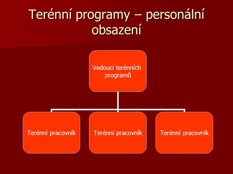 Terénní programy – personální obsazení