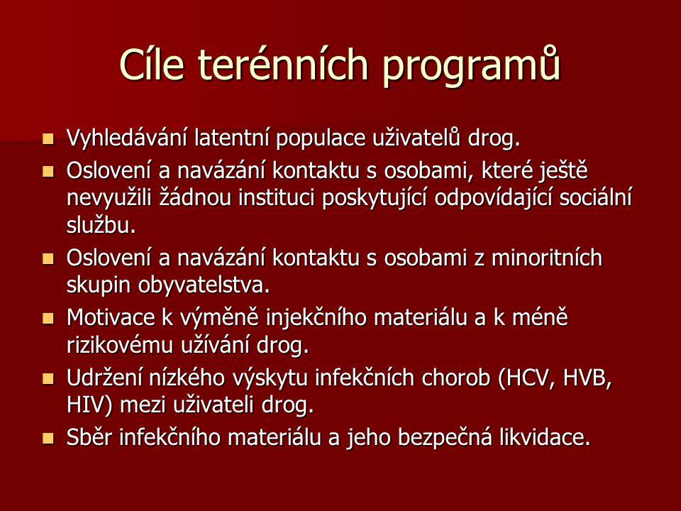 Cíle terénních programů