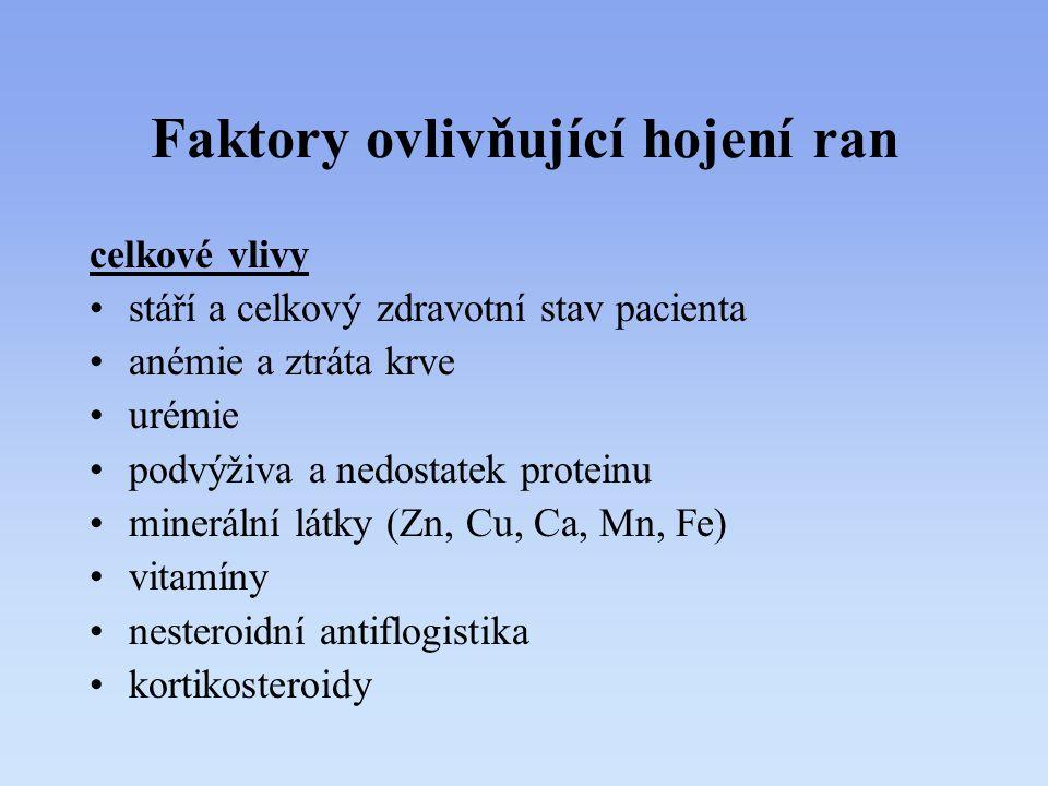 Faktory ovlivňující hojení ran