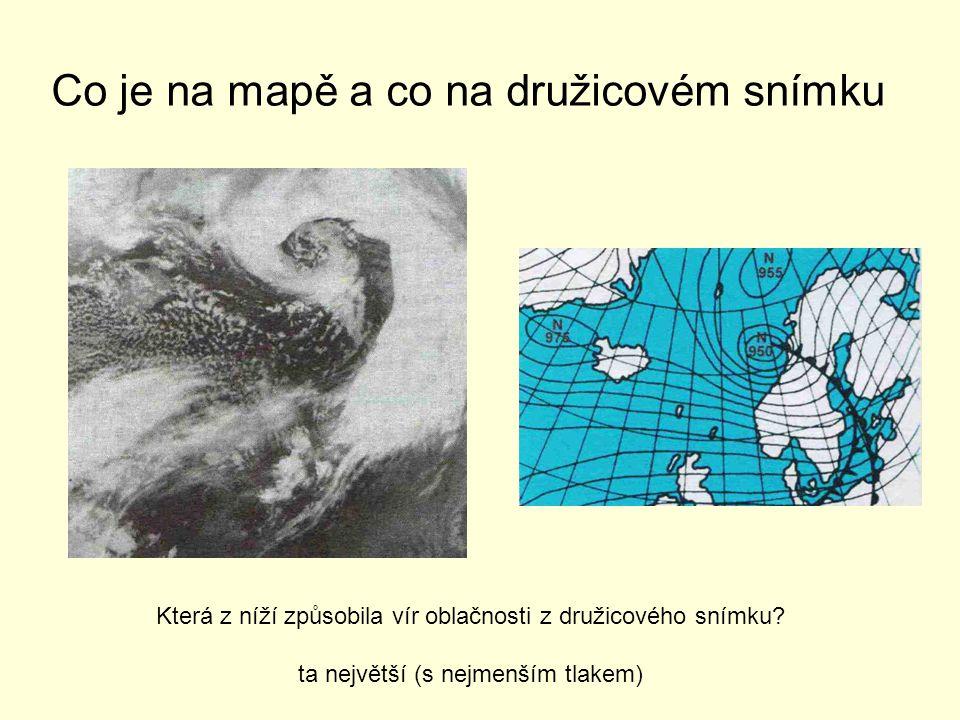 Co je na mapě a co na družicovém snímku