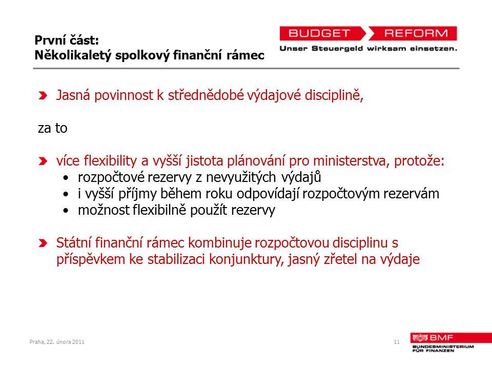 První část: Několikaletý spolkový finanční rámec