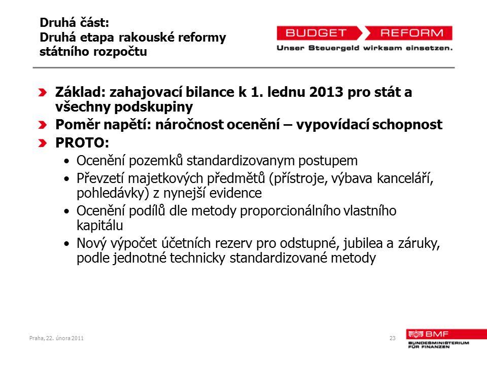 Druhá část: Druhá etapa rakouské reformy státního rozpočtu