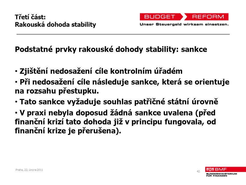 Třetí část: Rakouská dohoda stability