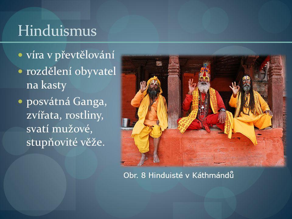 Hinduismus víra v převtělování rozdělení obyvatel na kasty