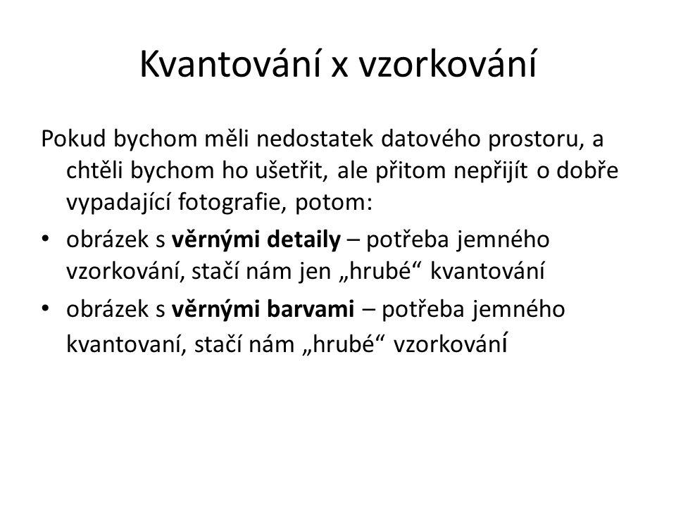 Kvantování x vzorkování