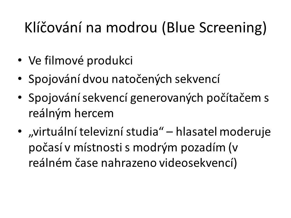 Klíčování na modrou (Blue Screening)