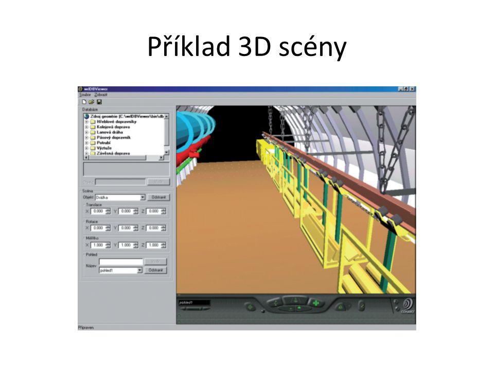 Příklad 3D scény X3D environment