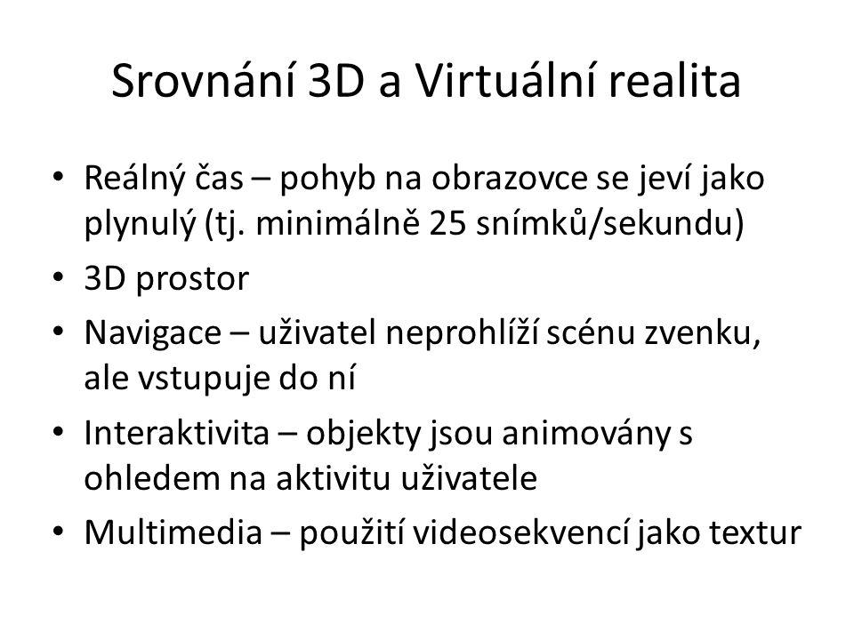 Srovnání 3D a Virtuální realita