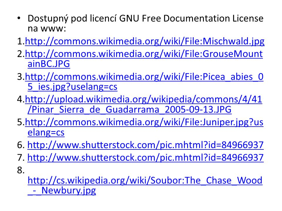 Dostupný pod licencí GNU Free Documentation License na www: