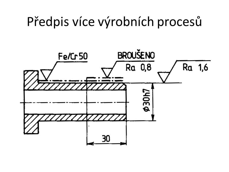 Předpis více výrobních procesů