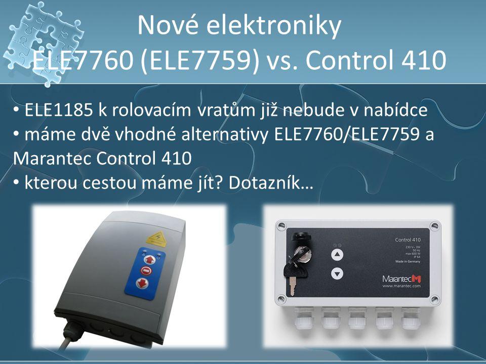 Nové elektroniky ELE7760 (ELE7759) vs. Control 410