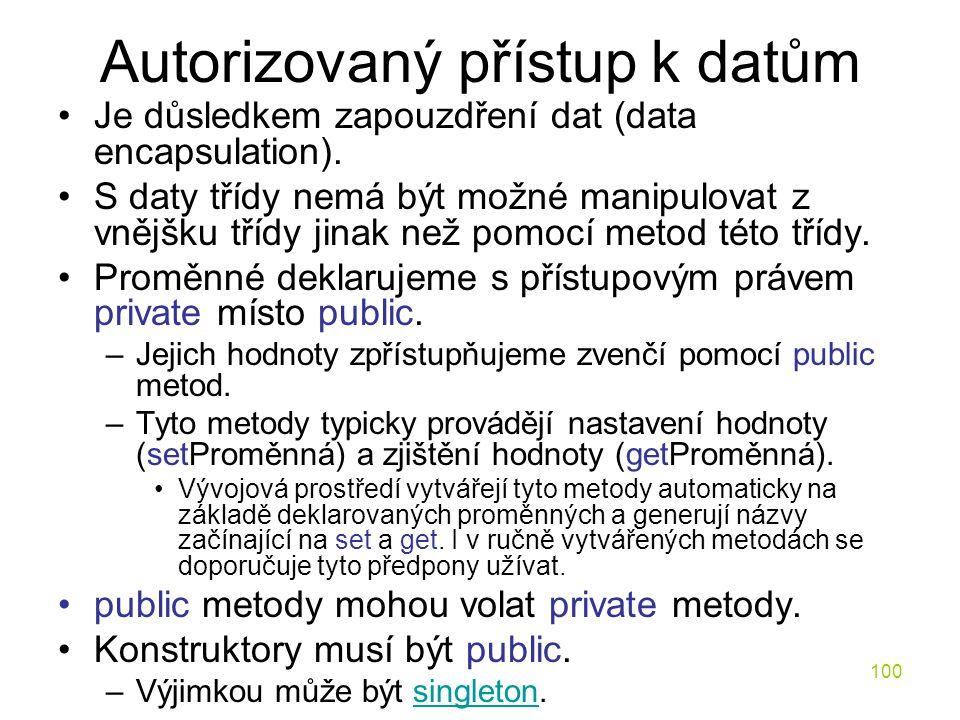 Autorizovaný přístup k datům