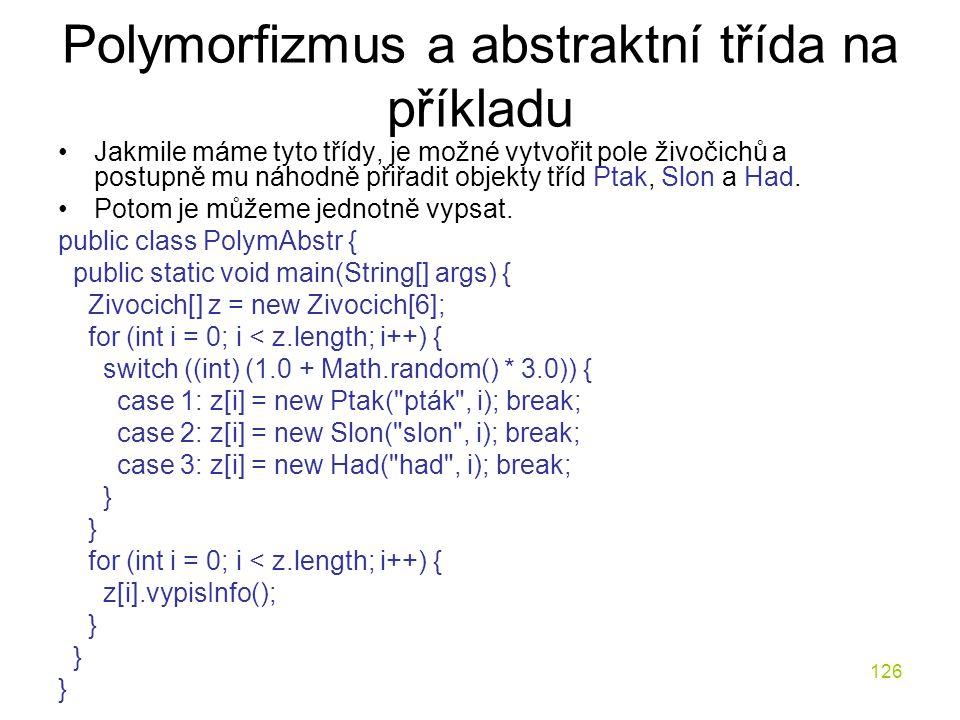 Polymorfizmus a abstraktní třída na příkladu