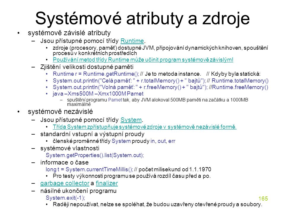 Systémové atributy a zdroje