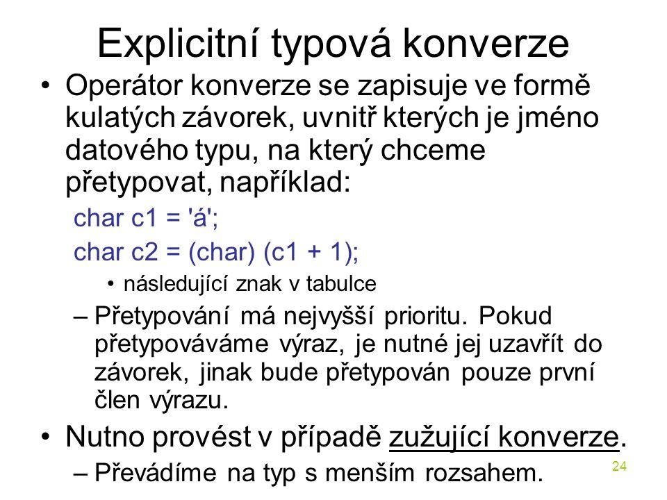 Explicitní typová konverze