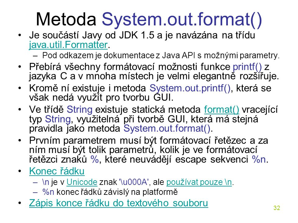 Metoda System.out.format()