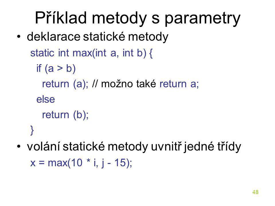 Příklad metody s parametry