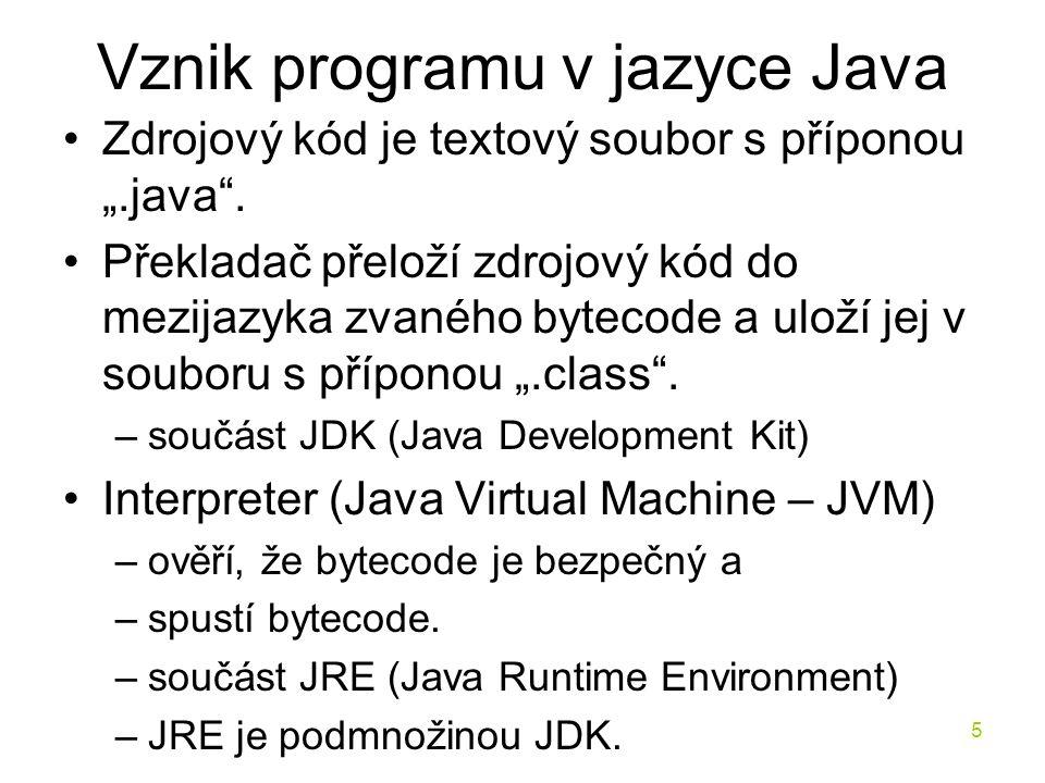 Vznik programu v jazyce Java