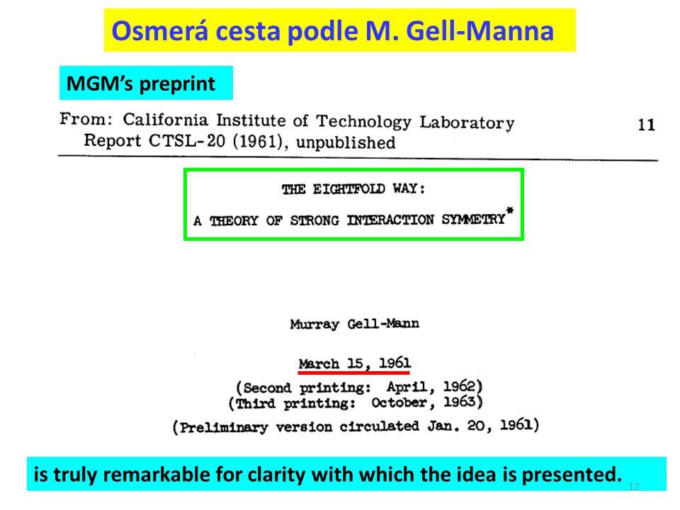 Osmerá cesta podle M. Gell-Manna