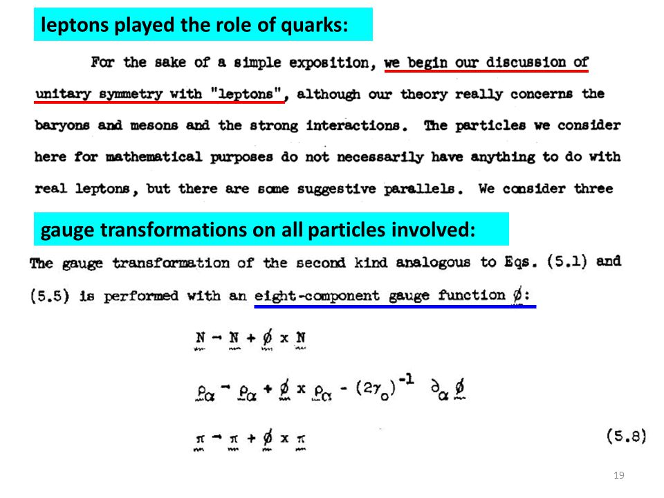 leptons played the role of quarks: