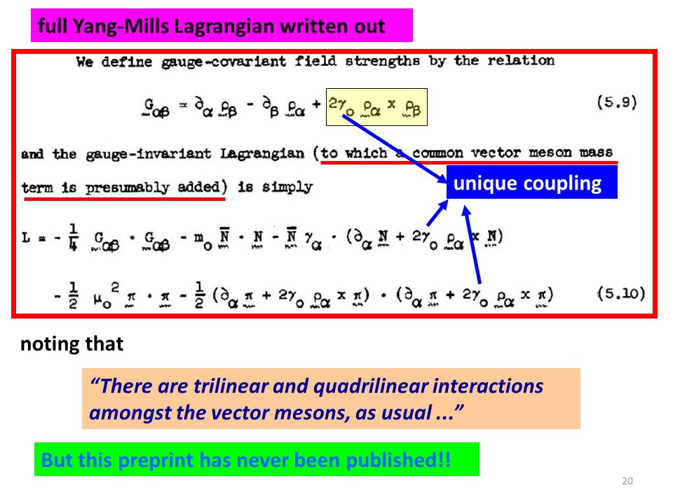 full Yang-Mills Lagrangian written out