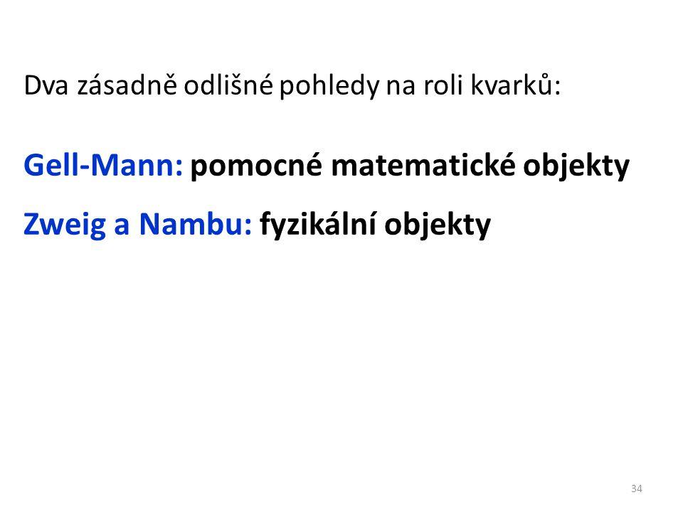 Gell-Mann: pomocné matematické objekty