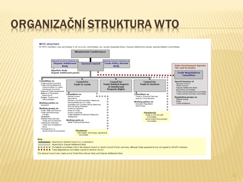 Organizační struktura WTO