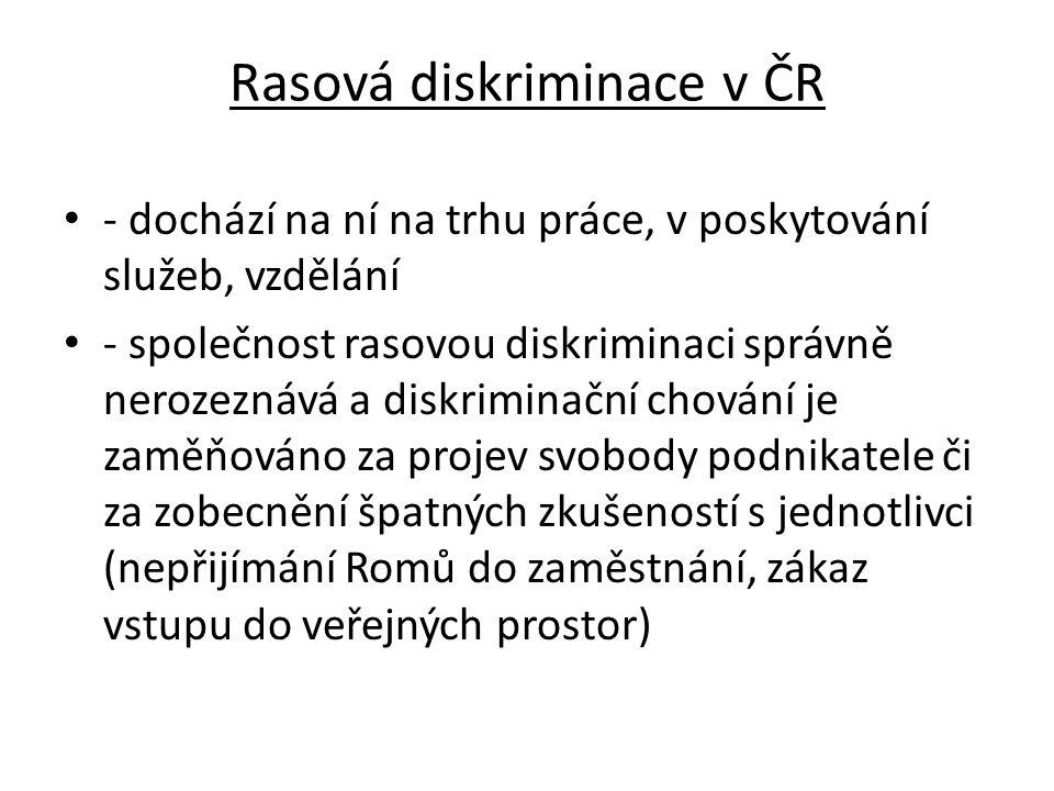 Rasová diskriminace v ČR