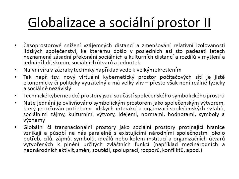 Globalizace a sociální prostor II