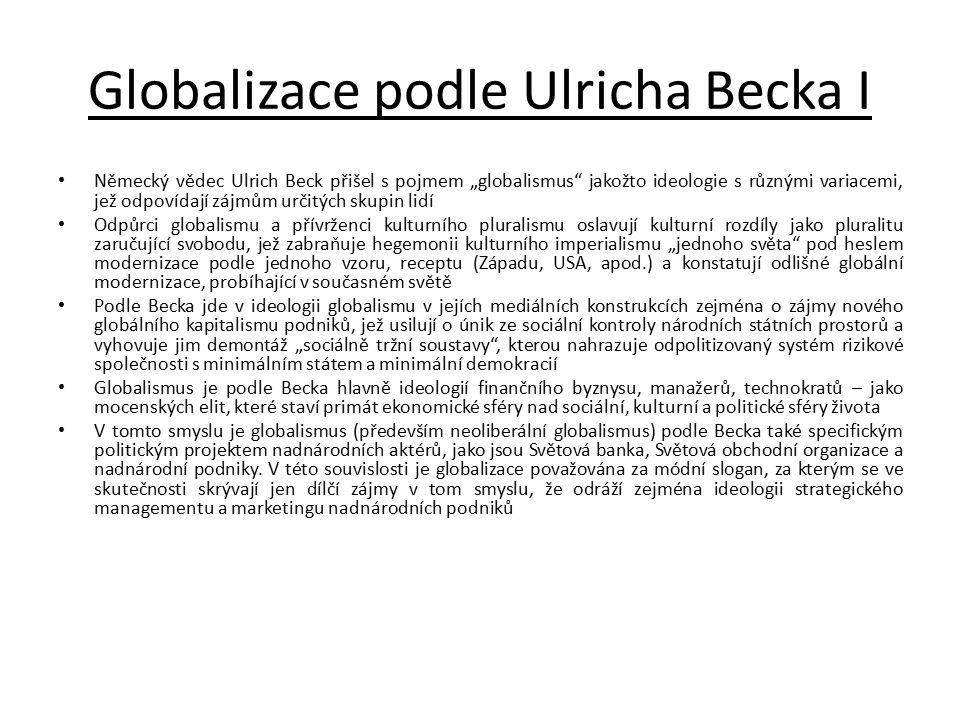 Globalizace podle Ulricha Becka I