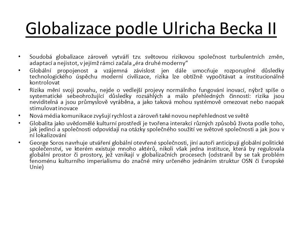 Globalizace podle Ulricha Becka II