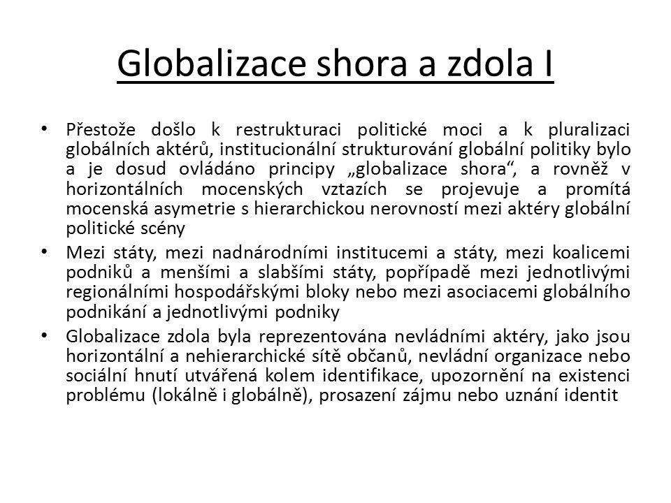 Globalizace shora a zdola I