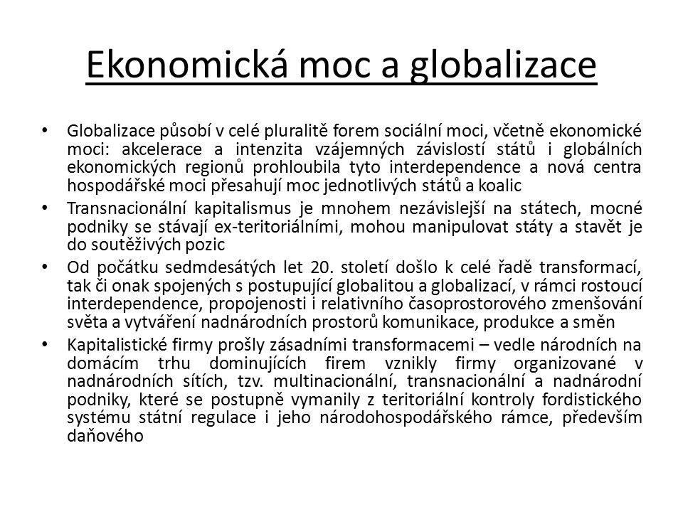 Ekonomická moc a globalizace
