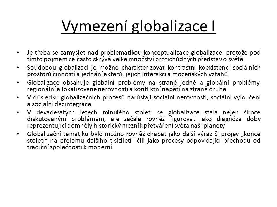 Vymezení globalizace I