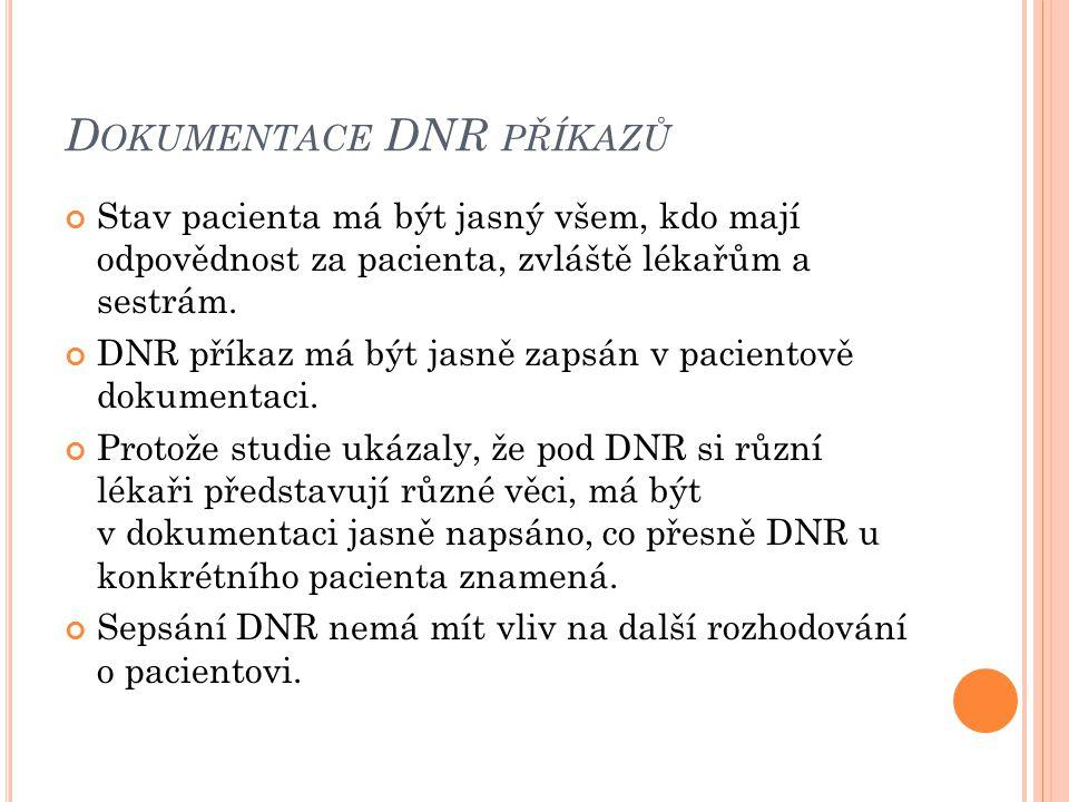 Dokumentace DNR příkazů