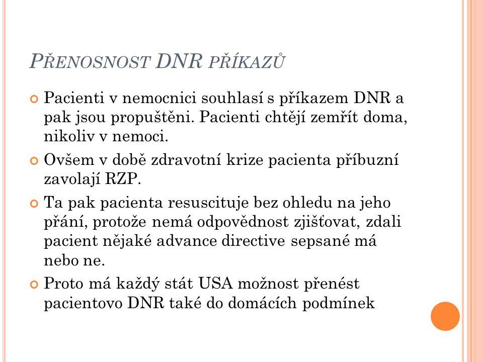 Přenosnost DNR příkazů