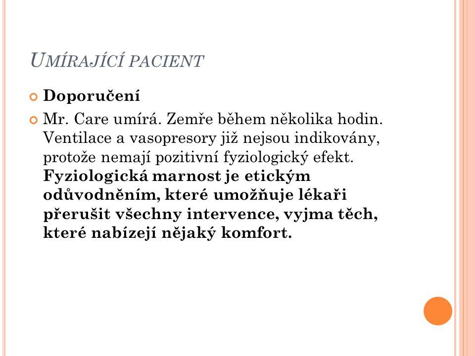 Umírající pacient Doporučení