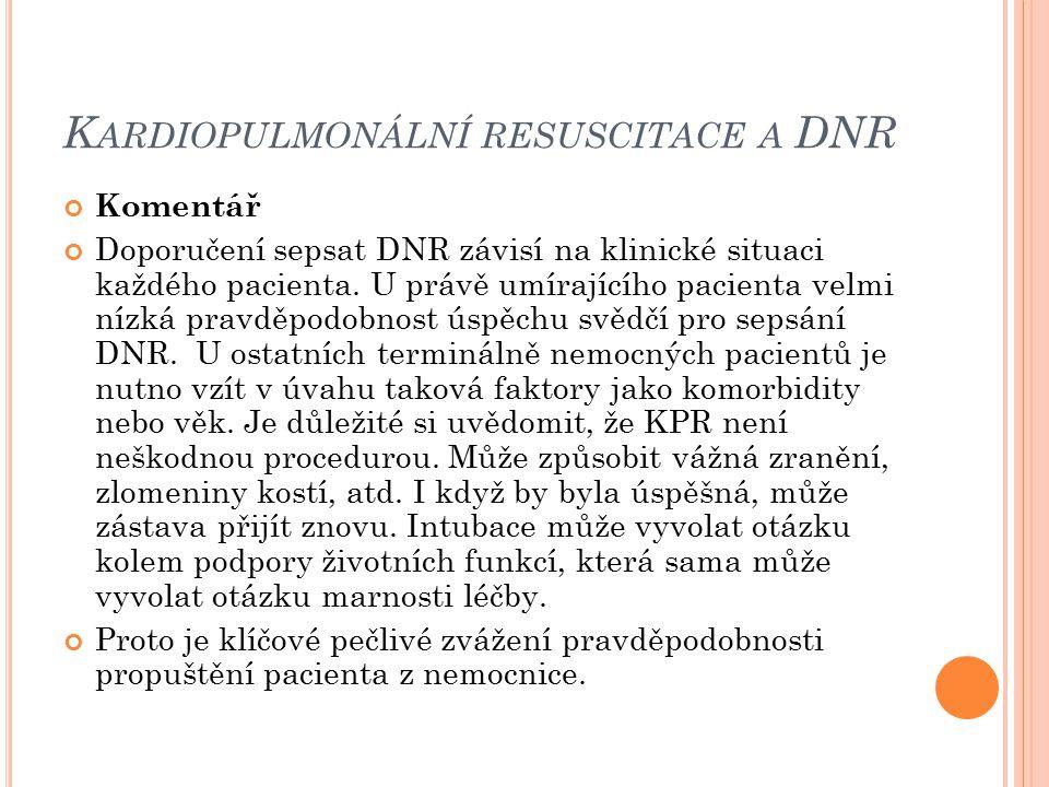 Kardiopulmonální resuscitace a DNR