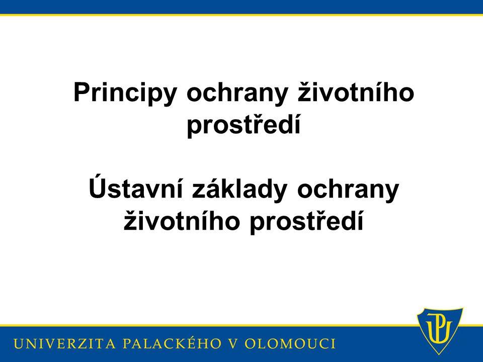 Principy ochrany životního prostředí